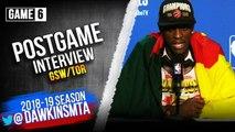 Pascal Siakam Postgame Interview - Game 6 - Raptors vs Warriors - 2019 NBA Finals