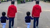 Taimur Ali Khan spotted with Karisma Kapoor's son Kiaan Raj Kapoor in London | FilmiBeat
