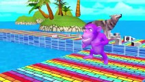 4. KidsTV Funny Monkey runs learn colors as he finds animal friends around island style PC games