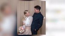 Diego Simeone y Carla Pereyra muestran las fotos de su boda secreta por lo civil