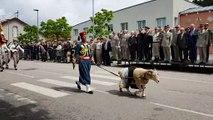 Epinal :  l'au-revoir du colonel Leprêtre au régiment de Tirailleurs