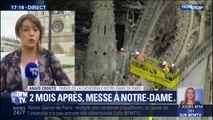 Hommage à Notre-Dame : trente personnes assistent à une messe, deux mois après l'incendie