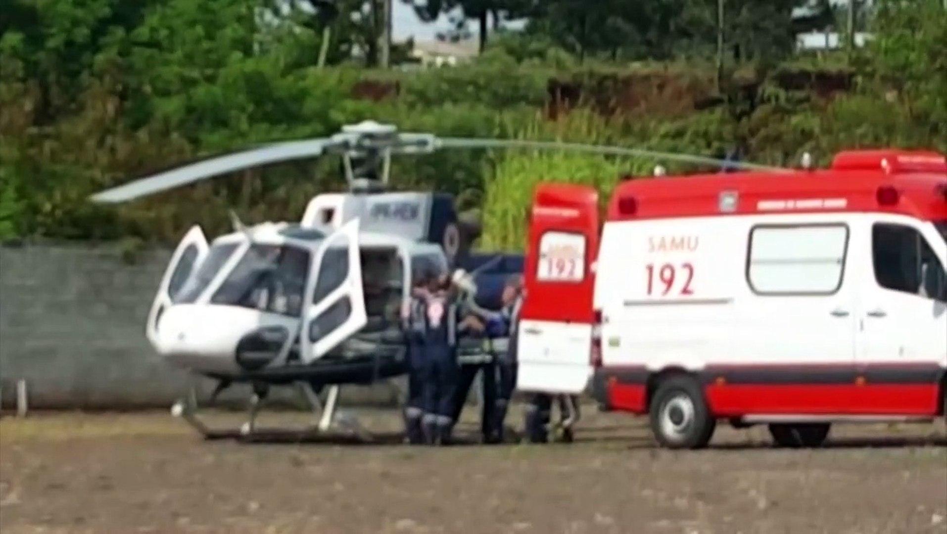 Helicóptero transporta bebê de Assis Chateuabriand para Cascavel
