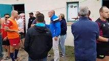 Villegailhenc - Carpentras : tension aux abords des vestiaires