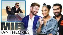 Men in Black Fan Theories with Chris Hemsworth, Tessa Thompson and Kumail Nanjiani - Vanity Fair
