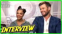 MEN IN BLACK: INTERNATIONAL - Chris Hemsworth - Tessa Thompson talk about the movie