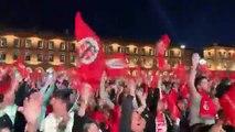 Rugby - Top 14 - La foule en délire à Toulouse après la victoire du Stade Toulousain en finale du top 14 contre Clermont-Ferrand