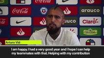 (Subtitled) Vidal hails new Real Madrid signing Kubo as 'very skilled'