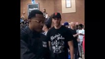Lonzo Ball reaction to being traded to Pelicans for Anthony Davis after arriving to watch Lamelo Ball Drew league game 6-15-19