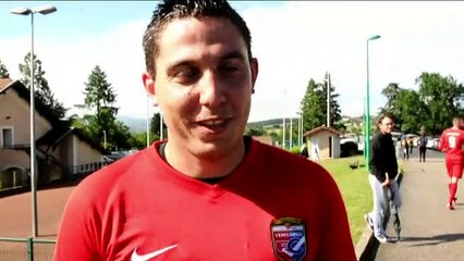 Barrage R3 – Jessim FERRARO réagit après la victoire du FC VENISSIEUX B contre le LOSC