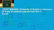 [MOST WISHED]  University of Berkshire Hathaway: 30 Years of Lessons Learned from Warren Buffett