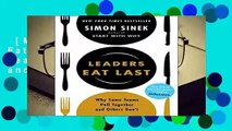 [MOST WISHED]  Leaders Eat Last: Why Some Teams Pull Together and Others Don t