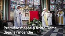 """Messe Notre-Dame: """"moment d'émotion"""" pour l'archevêque de Paris"""
