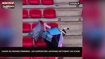 Coupe du monde féminine : Les supporters japonais nettoient le stade de Rennes (Vidéo)