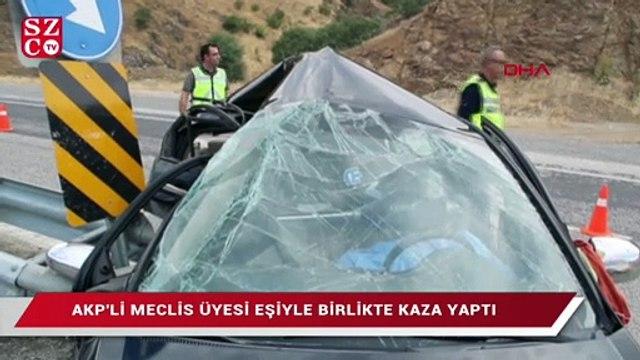 AKP'li meclis üyesi eşiyle birlikte kaza yaptı