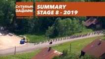 Summary - Stage 8 - Critérium du Dauphiné 2019