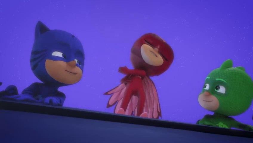PJ Masks S03E08 - S03E09 Teacher Goes Ninja - Robot Goes Wrong