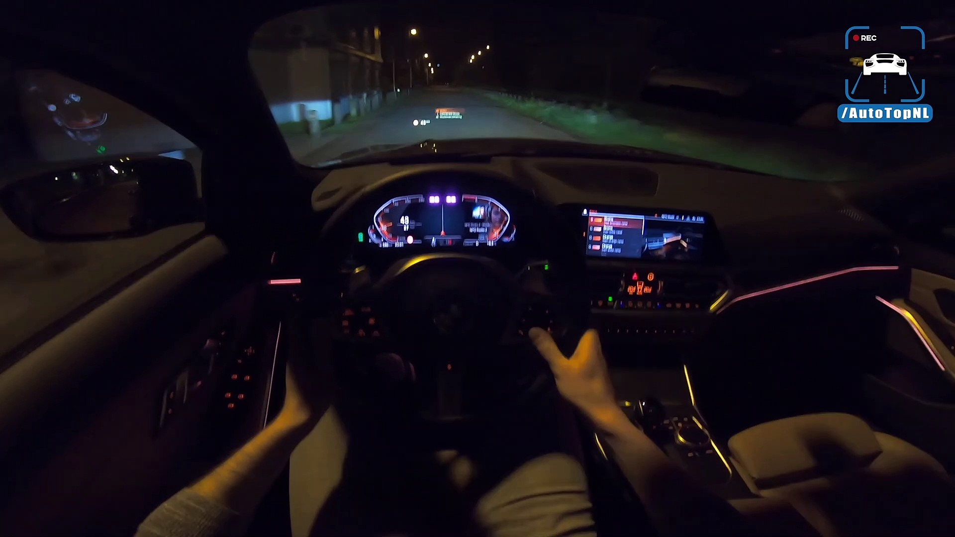New Bmw 3 Series G20 Night Drive W Ambient Lighting By Autotopnl Dailymotion Video