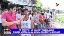 F/B Gem-Ver 1 na umano'y binangga ng Chinese vessel, nadala na sa Occidental Mindoro