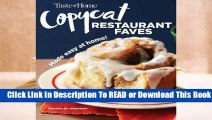 Online Taste of Home Copycat Restaurant Faves: Restaurant Faves Made Easy at Home  For Kindle