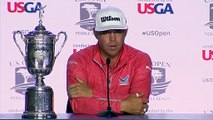 Reaction from champion Gary Woodland after the final round of the 119th U.S. Open