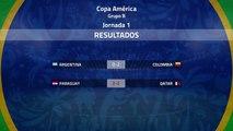 Resumen de la Jornada 1 Copa América Grupo B