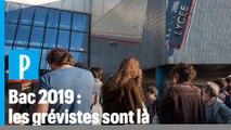 Bac 2019 : des grévistes devant un lycée à Saint-Ouen