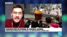 Pékin réaffirme son soutien à la dirigeante de Hong-Kong, Carrie Lam