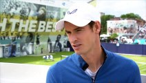 'I feel very lucky' says Andy Murray, ahead of making his return to the court at Queens
