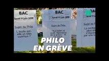 Bac philo 2019: ces profs en grève affichent de faux sujets de philosophie
