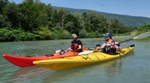 Destination montagnes : kayak sur le Rhône