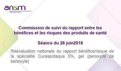 Réévaluation nationale du rapport bénéfice/risque de la spécialité Curaspotaqua 5%, gel (peroxyde de benzoyle)