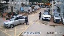 Il prend le volant à sa fille pour se garer... et plante la voiture !