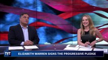 Elizabeth Warren Signs Progressive Pledge