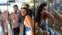 Elle rencontre Lionel Messi… et fond en larmes