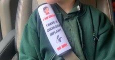 Elle invente des coussins de ceinture de sécurité pour avertir les secouristes des problèmes de santé ou l'handicap des enfants