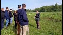 Les élèves de la Haute Ecole Condorcet d'Ath, section agronomie, découvrent un élevage de Black Angus à Rongy