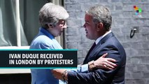 Ivan Duque Received In London By Protesters