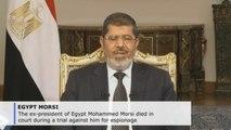 Former Egyptian president Mohammed Morsi dies in court