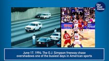 June 17, 1994: O.J. Simpson Bronco Chase Overshadows Huge Sports Day