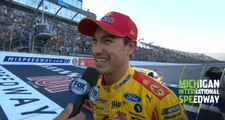 Logano thanks fans after Monday night win