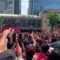 Toronto Raptors' fans celebrate franchise's first-ever championship at parade