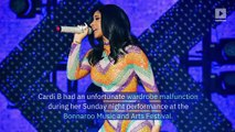 Cardi B Performs in Bathrobe at Bonnaroo After Wardrobe Malfunction