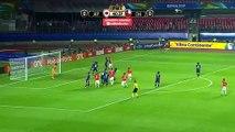 Japón vs Chile así se vivió el gol. | Azteca Deportes