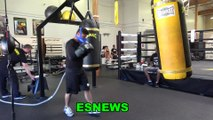 Mikey Garcia Working Out At SNAC