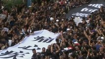 Hong Kong residents protest increasing Chinese control