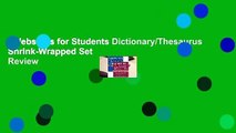 Webster's for Students Dictionary/Thesaurus Shrink-Wrapped Set  Review
