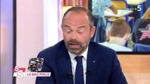 Edouard Philippe contrarié par une remarque d'Anne-Elisabeth Lemoine dans C à vous