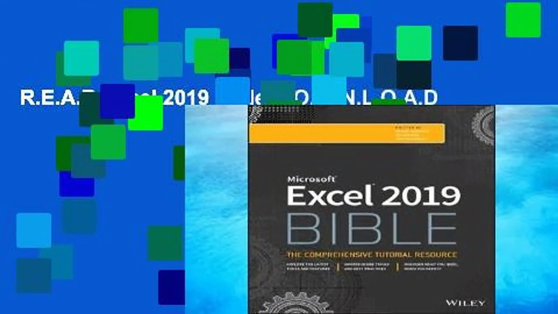 R E A D Excel 2019 Bible D O W N L O A D