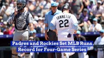 The Padres And Rockies Set Records
